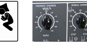 24. Catch misuse of feed rate override by machine monitoring
